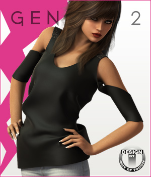 Fashion Blizz - Bare Shoulders Shirt for Genesis 2 Female(s) 3D Figure Essentials outoftouch