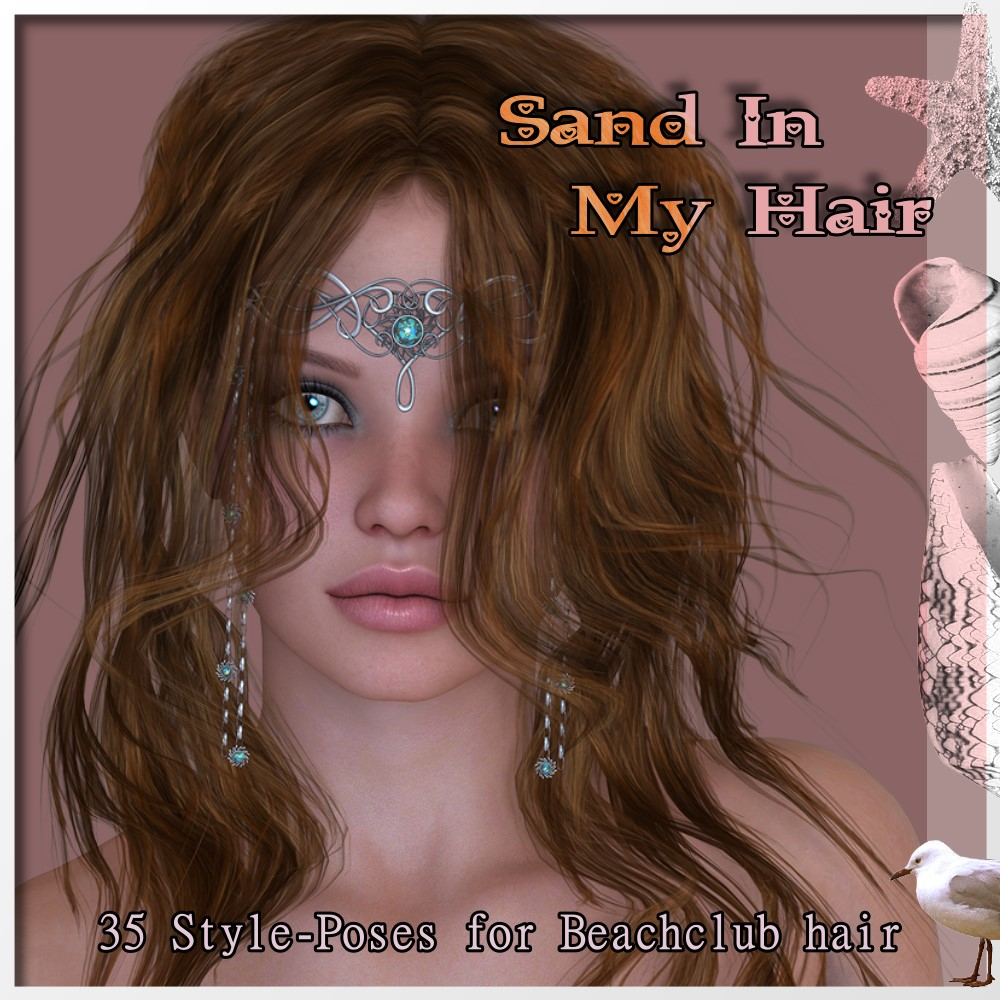 AM: Sand in my hair  35 Style-Poses for Beachclubhair