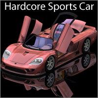 Hardcore Sports Car - Extended License Gaming 3D Models RPublishing