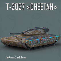 AJ T-2027 Cheetah - Extended License 3D Models Extended Licenses -AppleJack-