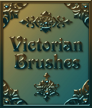 VICTORIAN Brushes & Png Files Pack 2D Merchant Resources fractalartist01