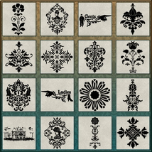 VICTORIAN Brushes & Png Files Pack image 1