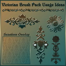 VICTORIAN Brushes & Png Files Pack image 4