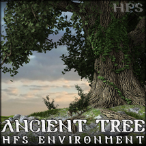 HFS Environments: Ancient Tree - Extended License 3D Models DarioFish