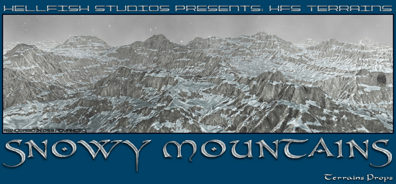 HFS Terrains: Snowy Mountains - Extneded License