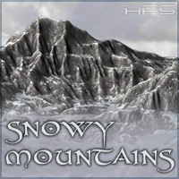 HFS Terrains: Snowy Mountains - Extneded License 3D Models Extended Licenses DarioFish