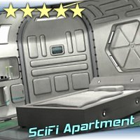 SciFi Apartment - Extended License 3D Figure Essentials 3D Models Gaming 3-d-c