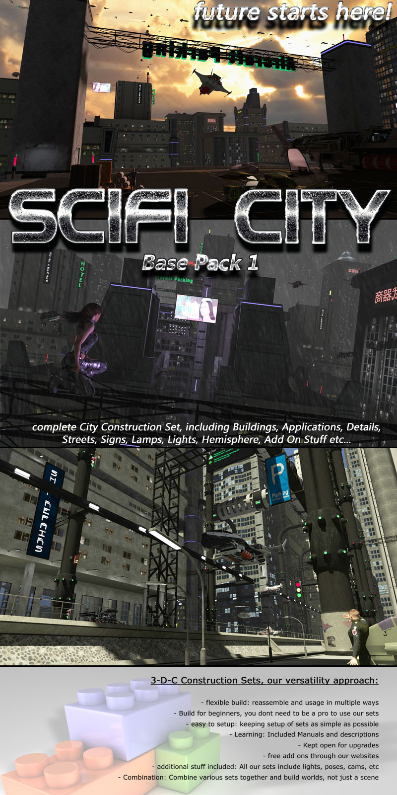 SciFi City Construction Base 1 - Extended License