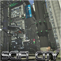SciFi City Construction Base 1 - Extended License 3D Models 3-d-c