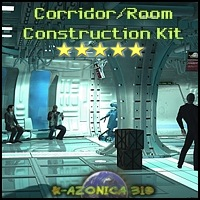 SciFi Room & Corridor Set - Extended License Gaming 3D Models 3-d-c