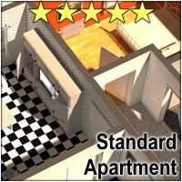 Standard Apartment - Extended License 3D Models 3D Figure Essentials Gaming 3-d-c