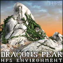 HFS Environments: Dragons Peak - Extended License 3D Models DarioFish