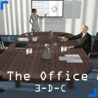 The Office Part 1 - Extended License 3D Figure Essentials 3D Models Gaming 3-d-c