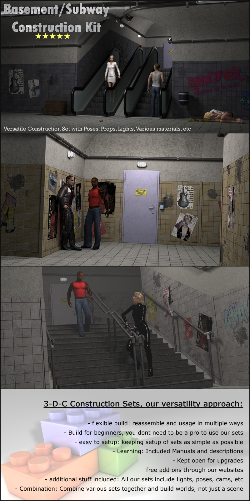 Basement & Subway Set - Extended License by 3-d-c