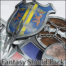 FANTASY SHIELDS - Extended License 3D Models 3D Figure Assets Extended Licenses RPublishing