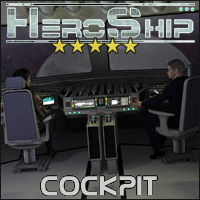 HeroShip Cockpit - Extended License 3D Models Gaming 3-d-c