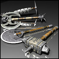 Fantasy Weapons 2 - Extended License 3D Models 3D Figure Essentials Gaming Extended Licenses RPublishing