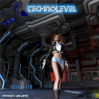 AJ_TechnoLevel - Extended License 3D Models -AppleJack-