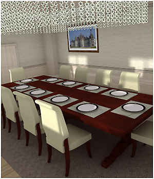 Luxury Dining Room - Extended License 3D Models RPublishing