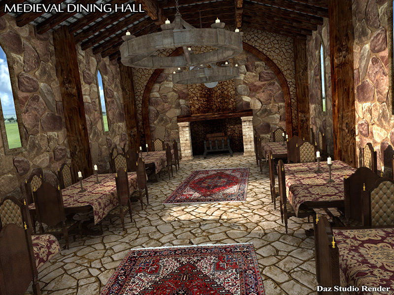 Medieval Dining Hall Extended License 3d Models Rpublishing
