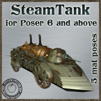 SteamTank - Extended License Extended Licenses 3D Models -AppleJack-