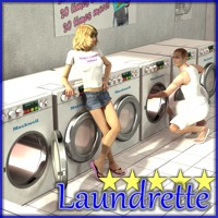 Laundrette - Extended License 3D Models 3D Figure Essentials Gaming 3-d-c