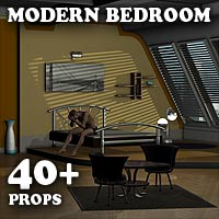 Modern Bedroom - Extended License 3D Models Extended Licenses coflek-gnorg