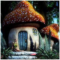 Mushroom Fairy House - Extended License 3D Models Extended Licenses RPublishing