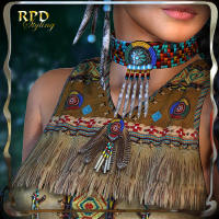 Native American Fantasy Wrap - Extended License 3D Figure Essentials 3D Models Gaming renapd