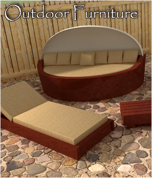 Outdoor Furniture - Extended License 3D Models Gaming RPublishing