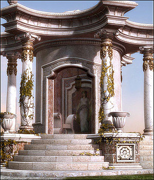 Palladio Roman Props & Scene - Extended License 3D Models Gaming GrayCloudDesign