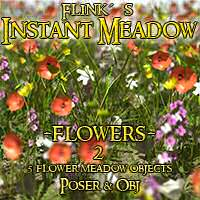 Flinks Instant Meadow Flowers 2 - Extended License 3D Models Gaming\Extended Licenses Flink