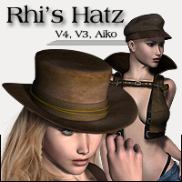Rhi's Hatz - Extended License 3D Figure Assets 3D Models Extended Licenses RPublishing