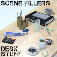 Scene Fillers Desk Stuff - Extended License Gaming 3D Models 3D Figure Essentials 3-d-c