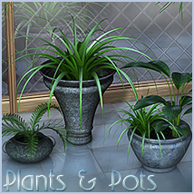Plants & Pots - Extended License 3D Models Gaming Sveva