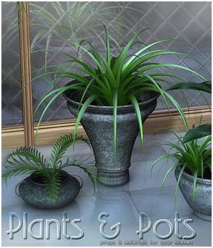 Plants & Pots - Extended License 3D Models Extended Licenses Sveva