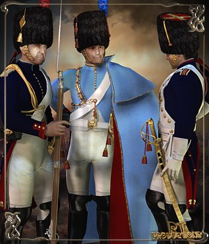 RT-Napoleonic M4 Grenadiers A Cheval - Extended License 3D Figure Essentials 3D Models renapd