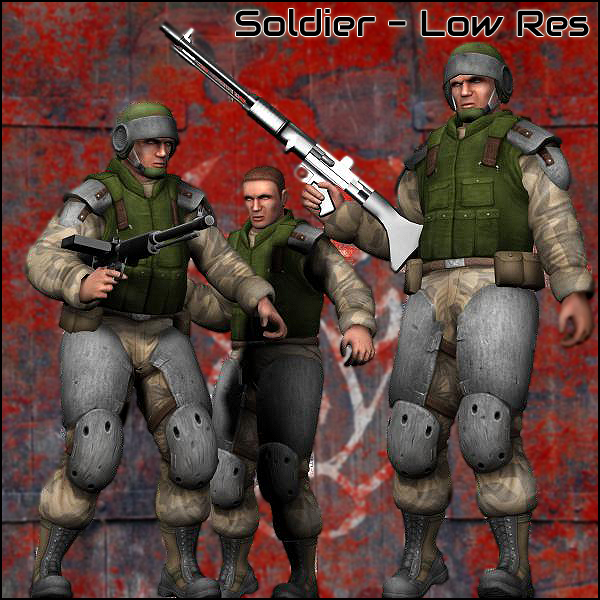 Soldier (Low Res) - Extended License
