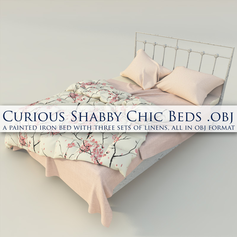 Curious Shabby Chic Beds OBJ