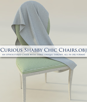 Curious Shabby Chic Chair OBJ 3D Models curious3d