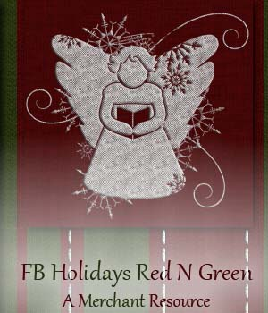 FB Holidays Red N Green - A Merchant Resource 2D Merchant Resources fictionalbookshelf