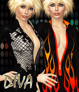 DIVA for B-Girl lll 3D Figure Assets ANG3L_R3D