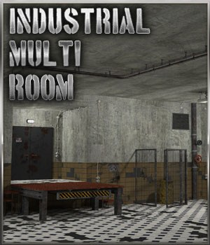 Industrial Multi Room 3D Models 3-d-c