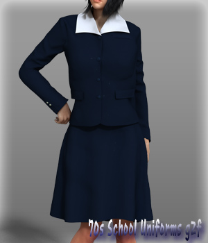 70s School Uniforms g2f 3D Figure Essentials kang1hyun