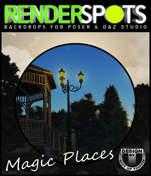 RenderSpots Magic Places for Poser and DAZ Studio 2D Graphics 3D Models outoftouch