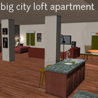 Big City Loft Apartment - Extended License 3D Models Extended Licenses ironman13
