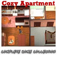 Cozy Apartment - Extended License 3D Models Extended Licenses ironman13