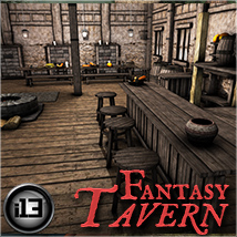 i13 Fantasy Tavern - Extended License 3D Models ironman13