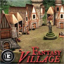 i13 Fantasy Village - Extended License Gaming 3D Models Fugazi1968