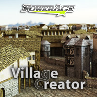 Village Creator for Poser & Unity3D - Extended License Gaming 3D Models powerage